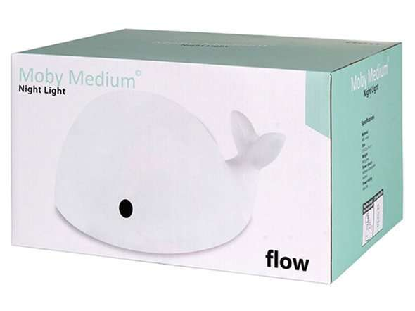 Flow Amsterdam - Lampka Nocna LED, Wieloryb Moby Medium
